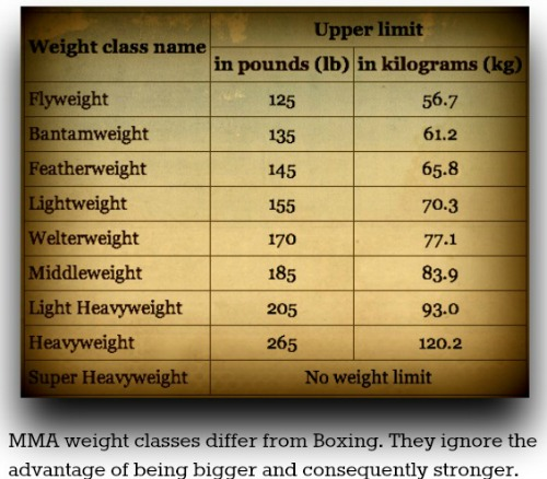Boxing Weight Class Chart Ibovnathandedecker