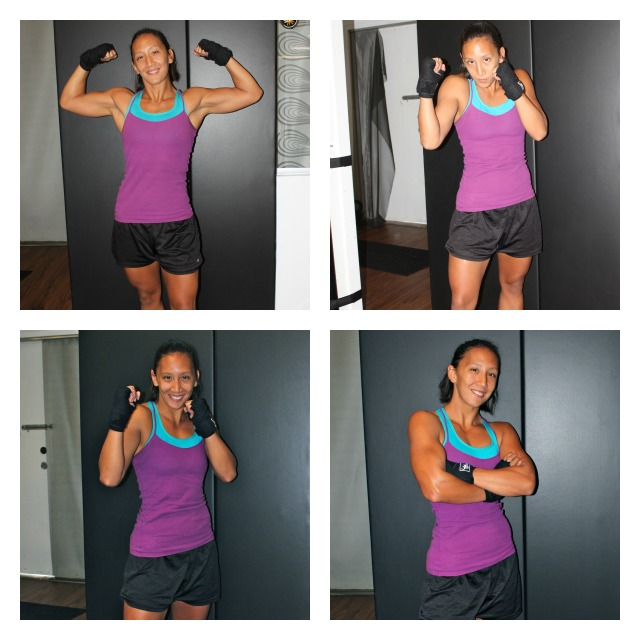 collage with different stances sport of boxing