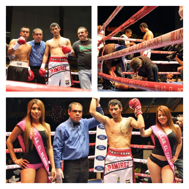 """In a quickie, southpaw lightweight Daniel """"Huracan"""" Ramirez (4-0, 3 KOs) remained undefeated after landing a body shot to the midsection of Jesus Montenegro (0-6) at 1:36 of the first round."""