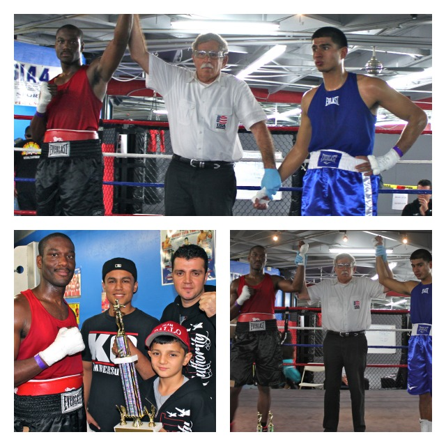 Berlin Kerney (L) defeats Miguel Vargas of Febela Chavez Boxing in Bout #13 Collage
