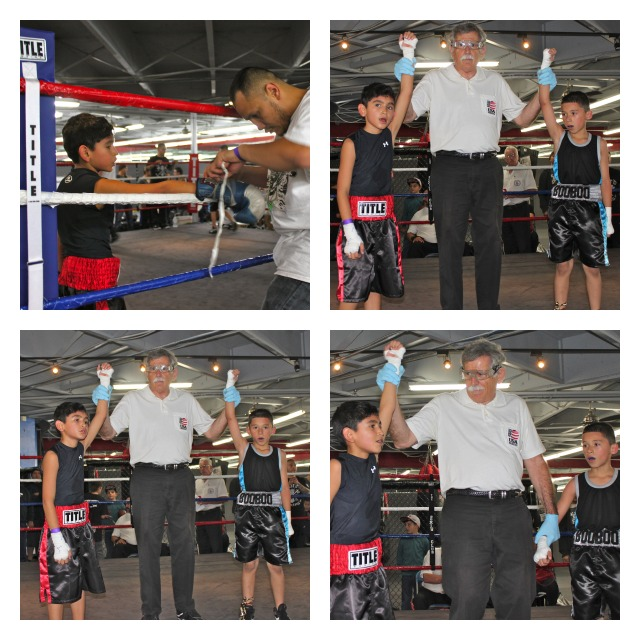 In Bout 8, it was Esteven Ramirez of the Vaya Con Dios Gym in Tulare, CA getting the win over Adrian Hernandez of the United Boxing and Fitness gym of Chula Vista.