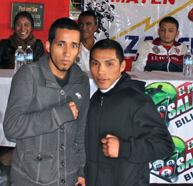 On Wednesday evening, Christian Renteria (L) will be making his pro-debut against Jose Pech.