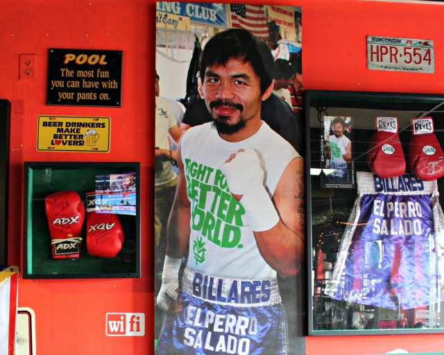 At this time, Manny Pacquiao is not only the WBC Super Welterweight Champion he is also the WBO Welterweight Champion.