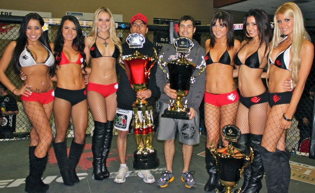 At the conclusion of the show, Eric Wilson (center right) and Benny Borjon received their trophies