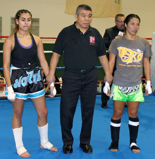 The winner of Bout #6 appeared to be a foregone conclusion and then the decision giving Teresa Garcia the victory over Evonne Aguilar was read