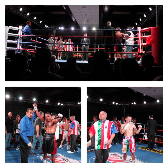 Bout #1 Collage Pedro Toledo over Xavier Montelongo Jr.