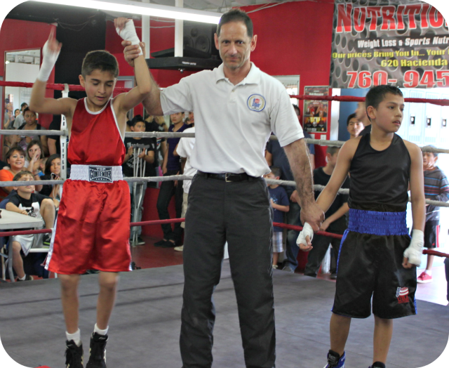 In Bout #2, it was 12 year-old Jose Chollet of Barrio Station (78.2 pounds) taking on 11 year-old Daniel Martinez of Grace (77.8 pounds).
