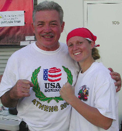Chuck Weismiller with the young lady he trained, Carly Bates. Photo: Jim Wyatt