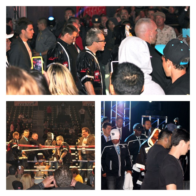 Bt 8 Entrance of freddie Roach with his charge Ruslan Provodnikov Collage