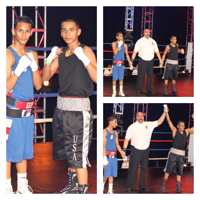 In Bout #1, it was Anthony Latham (right) defeating Juanito Garcia.