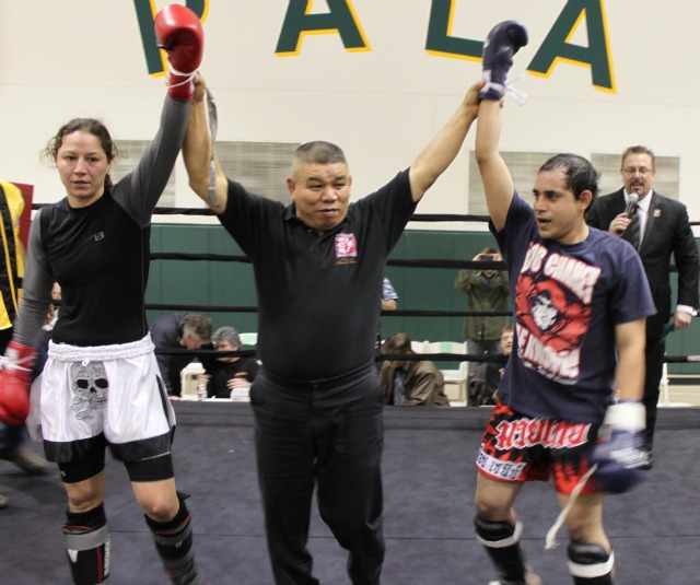 There was no declared winner in Bout #9 which ended up being an exhibition between Diana Jones and Ivan Garcia.