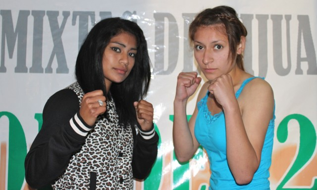 "Sandra Robles (left) will be facing Diana Marquez (R). It will be the ""Black Pearl"" versus the ""Huntress""."