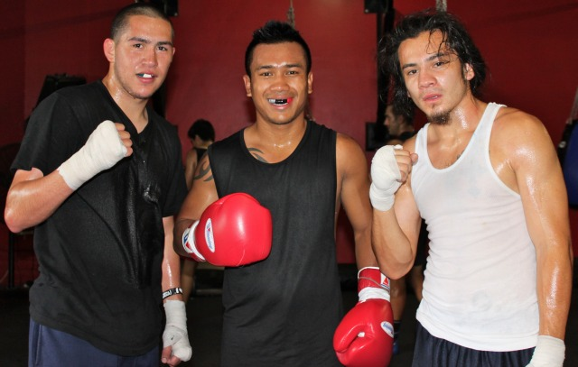 Oscar Molina (L) was in town to train with Emmanuel Robles and Mercito Gesta to get ready for the 2012 Summer Olympics. Photo: Jim Wyatt
