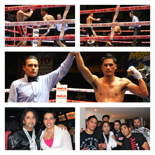 """Jorge """"Tito"""" Ruiz (center photo) who hails from the Alliance Training Center in Chula Vista, CA had a large group of supporters with him. Below we have his longtime coach, Sergio Melendrez and the rest of the remainder of the support group."""