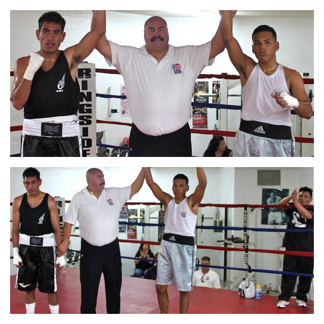 Armando Tovar (R) gets the unanimous decision win over Juan Cano.