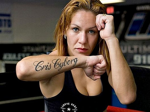 Cris Cyborg beloved fighter from The Arena, Point Loma, San Diego, CA.