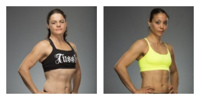 Photos of the competition: rising star Fiona Muxlow of Townsville, Queensland, Australia (l) and WCK World Muay Thai champion Miriam Nakamoto of Dublin, CA (r).