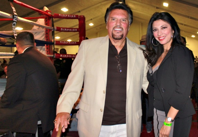 There were celebrities sightings everywhere but none as famous as actress Catherine Zeta Jones who sat ringside alongside promoter Bobby DePhilippis. Photo: Jim Wyatt