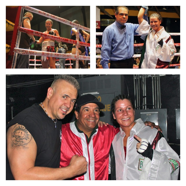 """In Bout #8, Maureen Shea had to be very careful against the much bigger and stronger Silvia """"Dinamita"""" Zúñga who could have knocked Shea out with one punch."""