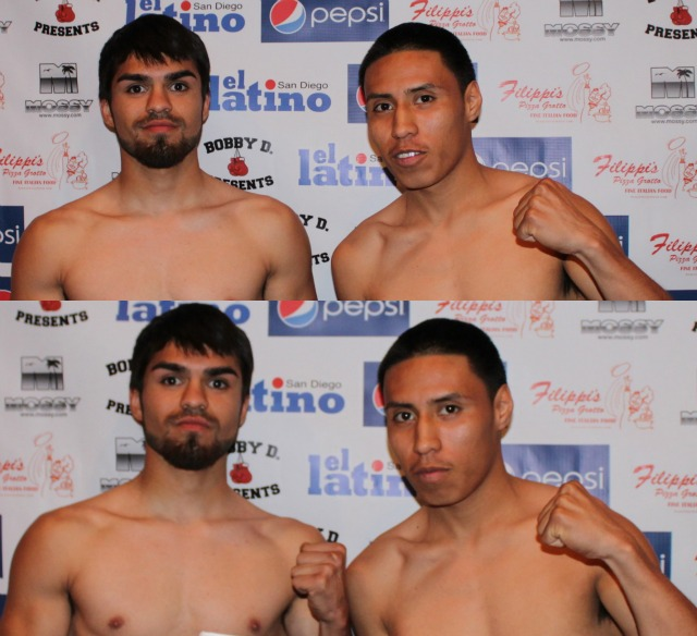 Initially, Sandoval weighed-in at 112 lbs. while Quiroz weighed 111 lbs. all the pleasantries will end when these two warriors get in the ring.