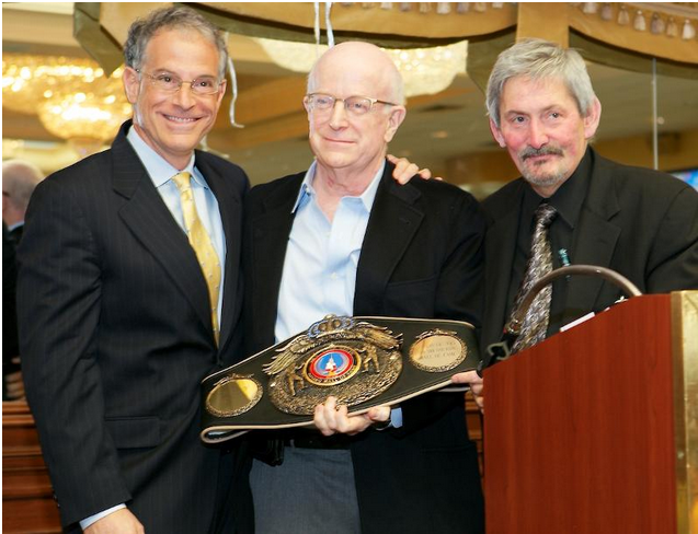 (left to right) New York State Boxing Hall of Fame Nominating Committee member Steve Farhood, manager Shelly Finkel and Bob Duffy.