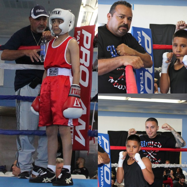 Gilbert Roybal is joined by his coach Luis Gamez and Jose Chollet is joined by his coach Tony Esparza.