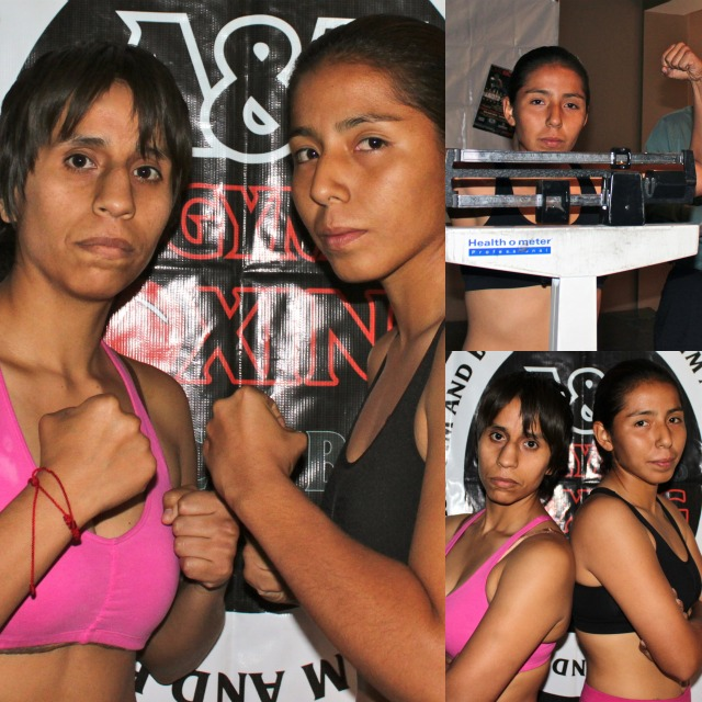In Bout #2, it will be Aracely Tinoco (R) of Lake Elsinore, CA going up against Blanca Reymundo (L) of Riverside, CA.