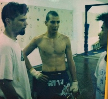 Here is a photo taken many moons ago with Todd Vance's original Muay Thai coach Chris Getz at the Black Tiger Gym in San Diego, CA.