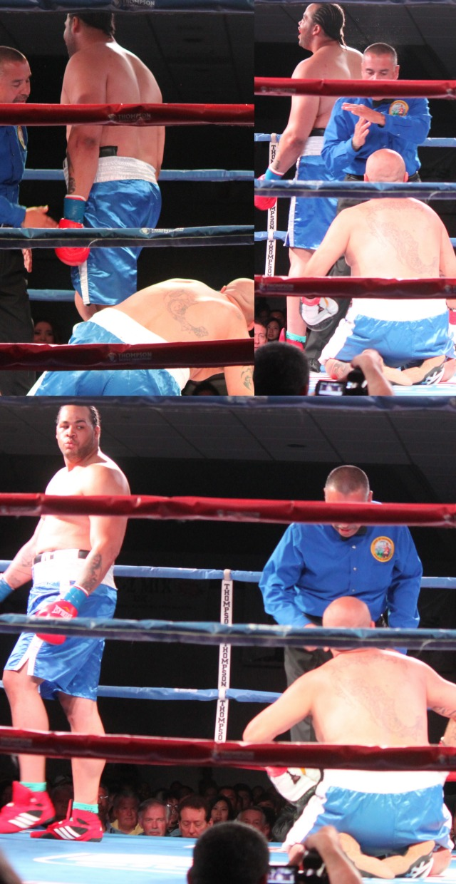 Even though his opponent was kneeling down, Justin Goslee didn't know when to stop punching.