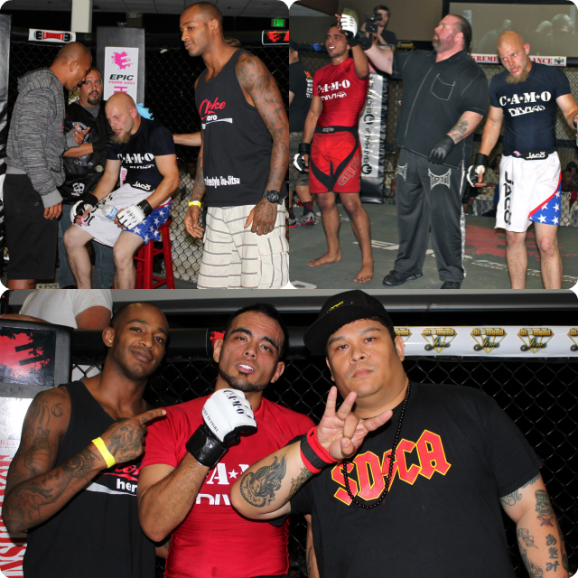 """Bout #8, in the 155-169 pound weight class, had 5'11"""" Manuel Garcia (1-0) of La Mesa, Ca, a member of Team Hurricane Awesome at the San Diego Combat Academy in San Diego, taking on 5' 10"""" Tony Bugno,"""