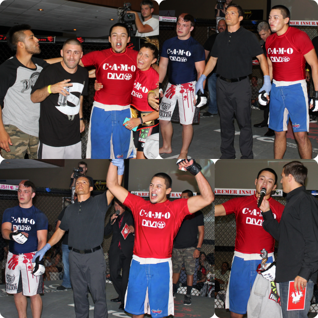 """Hector Saldana who trains at Team Quest going up against Cody """"Little Monster"""" Sons"""