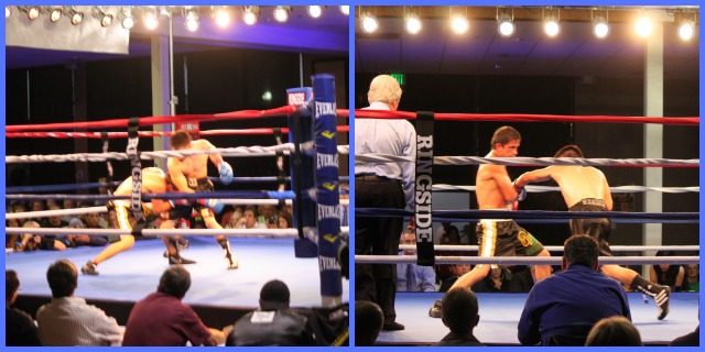 Ever since his debut in Tijuana, Christian Torres, seen here slipping and ducking under   Jesus Sandoval's punches, has gotten better and better.