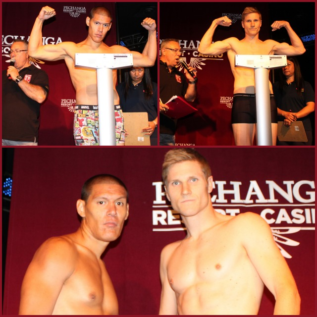 Dave Pacheco (bottom photo, left) will be taking on James Steelsmith (right).