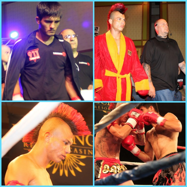 "Both Alfred Khashakyan of Glendale, CA (top left) and Chris ""Mohawk"" Minor of Los Angeles, CA (top right) make their way to the ring. Photos: Jim Wyatt"
