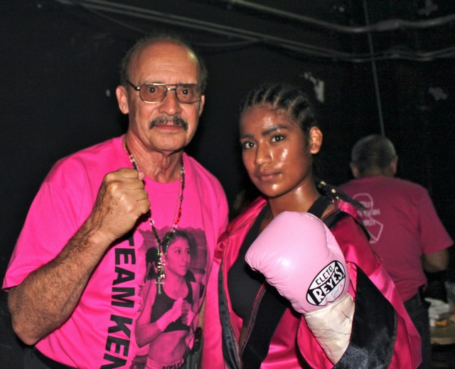 Sandra Robles, boxing coach Ray Solis