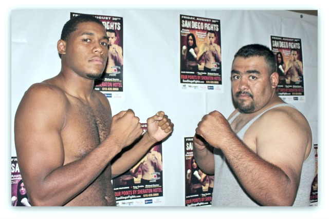 The Michael Hunter (l) versus Francisco Mireles (r) match-up.