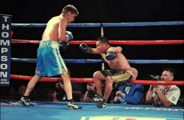Super bantamweight Danny Roman registered his seventh professional victory with a second round KO of Jose Iniguez of Tijuana. Thompson Boxing Promotions