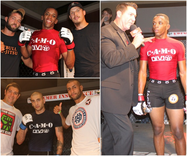 Bout #6 featured two featherweights (135.1 to 145 pounds) 20 year-old Razul Ware (2-0), a United States Marine stationed at USMC Air Station Miramar and training at the Pit Bull Gym in Point Loma, going up against Ashraf Hamideh (1-0) of Murrieta, Ca
