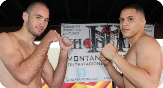Alec Christenberry (l) versus Ulises Sierra (r). Photo: Jim Wyatt