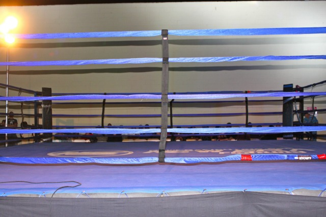The size of this enormous, kick boxing/MMA ring favored the more elusive who kept one step ahead of Jesus Lopezthe the puncher.