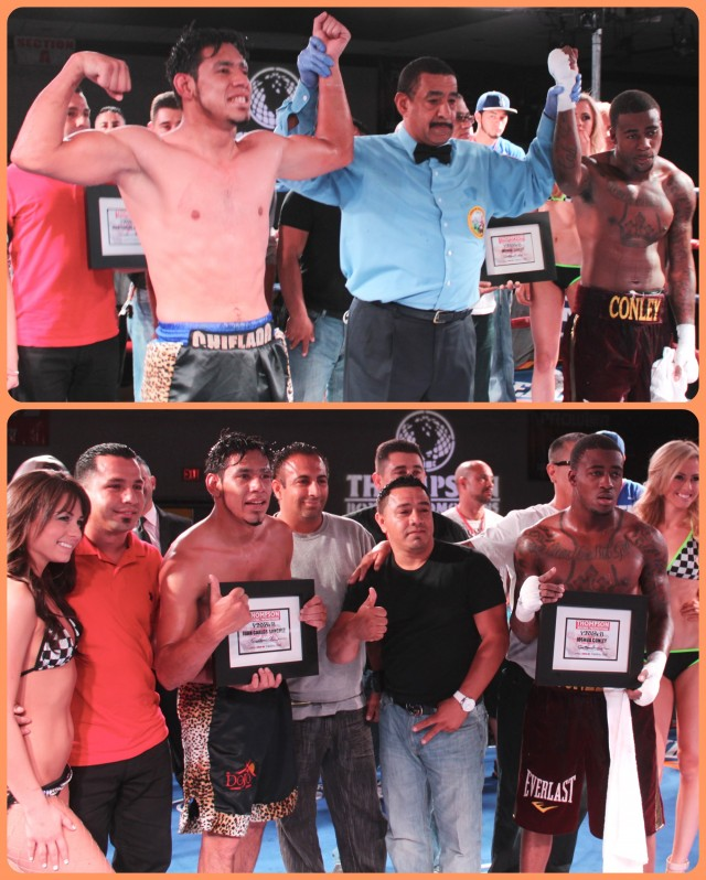 Unable to reach a consensus, the three judges declared the bout between Juan Carlos Sanchez and Joshua Conley a draw.