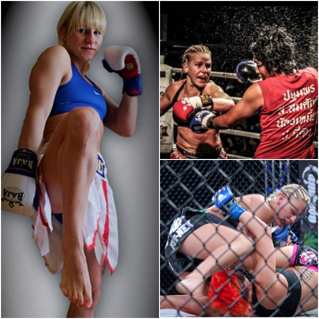 Whether it's a Muay Thai bout or an MMA bout, Justine Kish is ready.