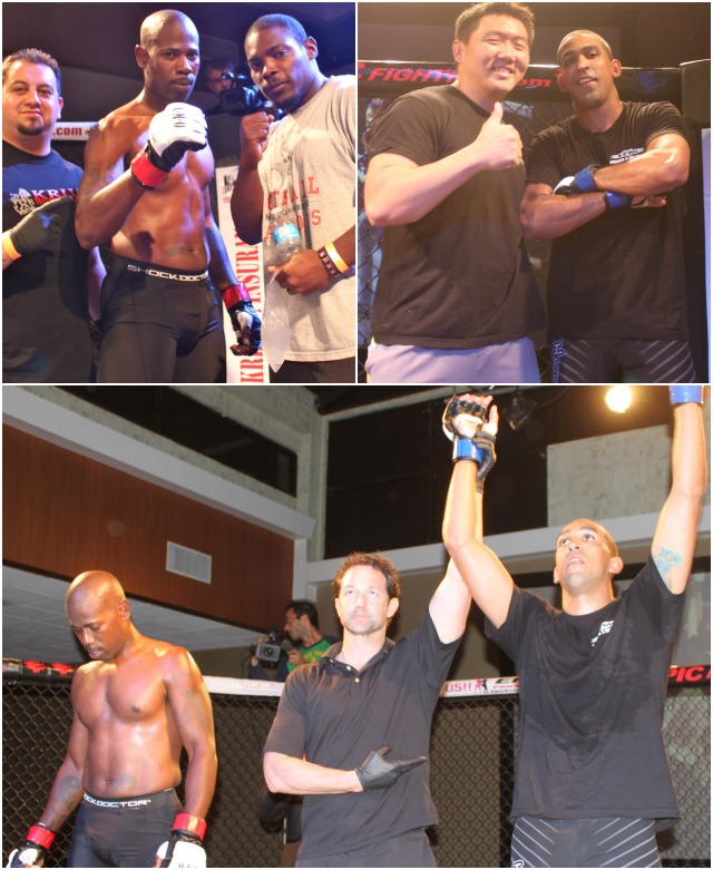 Thomas Miranda of Team Roundhouse in his debut getting the win over Matt Jones 2-1 of All In MMA
