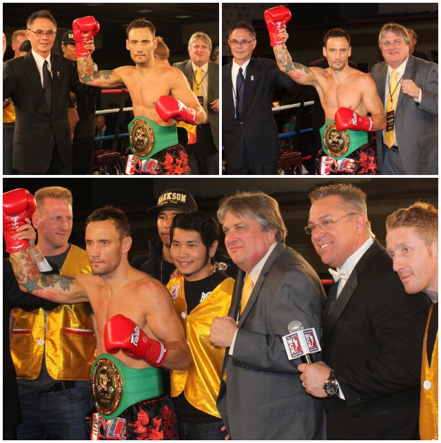 """After being presented the WBC championship belt everyone and their brother wanted a photo with Bryce """"The Body Snatcher"""" Krause. All photos: Jim Wyatt"""