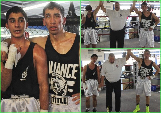 "Bout #14 featured two heavy-hitters Ali Fakhreddine of Old School Boxing, San Diego going up against Raul ""Rolly"" Meza of the UFC Gym in San Marcos, CA in the other semifinal match of that 141 pound Novice division."