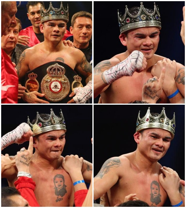 On Saturday night, at the Alamodome in San Antonio, Texas, Marcos Maidana celebrates his victory over Adrien Broner. All photos: Ronald Martinez/Getty Images