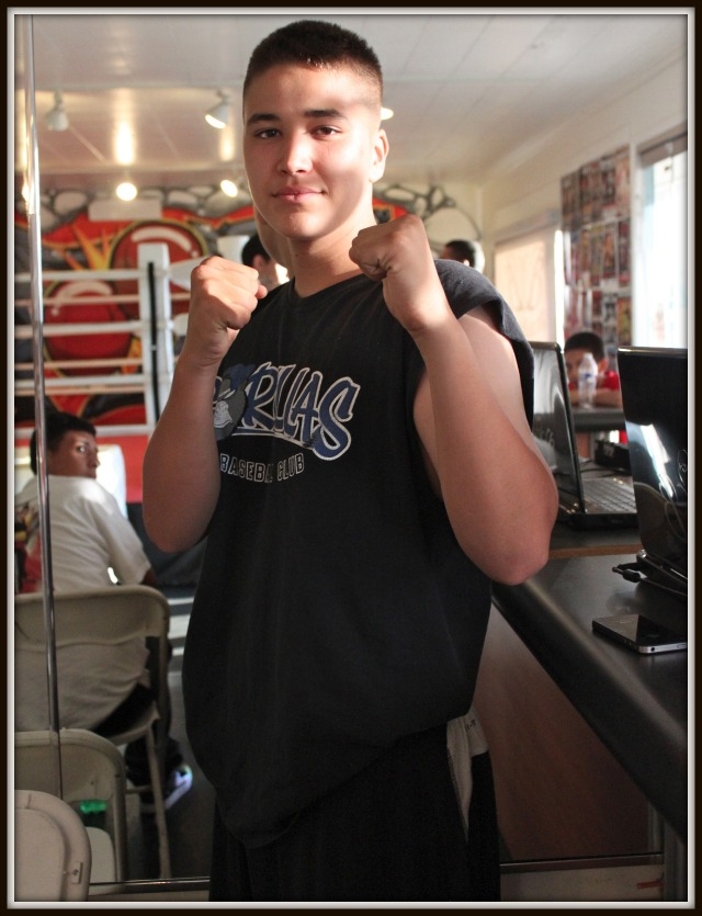 In Bout #7, it was 16 year-old Adrian Sanchez of Bound Boxing (155.2 pounds) defeating 15 year-old Brenton Perez of Oceanside, CA (152.4 pounds).