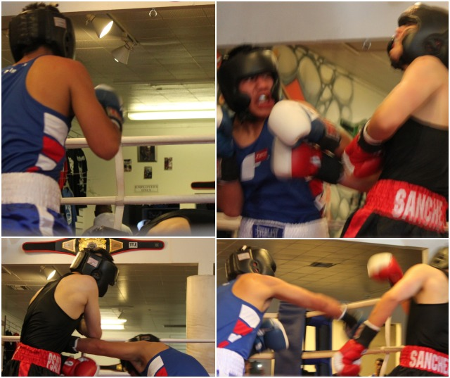 Adrian Sanchez of the host gym, Bound Boxing, (137.2 pounds) was surprised big time by the much improved 16 year-old Carlos Remigio of The Boxing Club, La Jolla