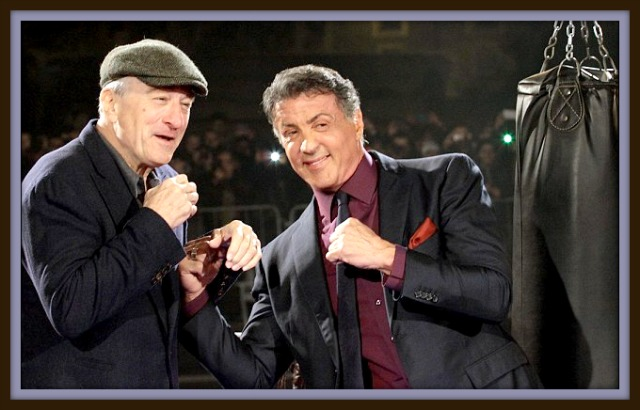 In the latest Warner Brothers' film release, it's Sylvester Stallone portraying a boxer by the name of Henry 'Razor' Sharp going up against Robert De Niro's character local Pittsburgh rival Billy 'The Kid' McDonnen. Photo: Warner Brothers Promotions