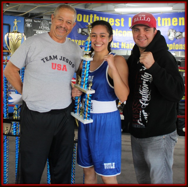 The Boxers for Christ Outstanding Female Boxer trophy went to Renata Ramirez of the Duarte Youth Boxing Club.